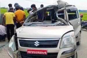 कार दुर्घटनामा बेलबारीका दुई महिलाको मृत्यु